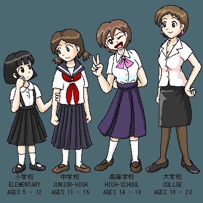 рисунок школьниц