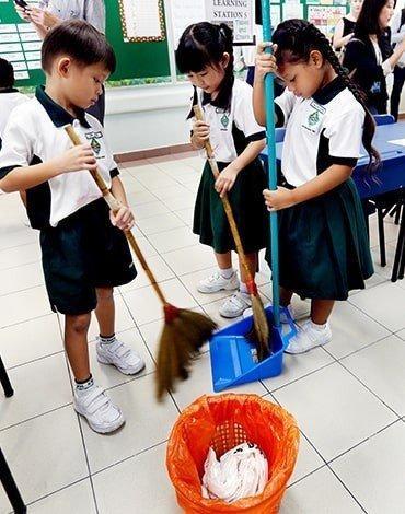 уборка в японских школах